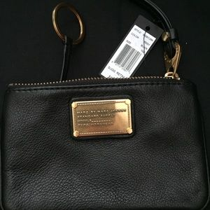 Marc by Marc Jacob black leather cardholder *New*